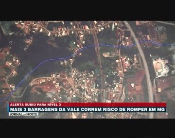 Brasil: tres represas de Minas Gerais