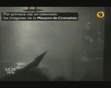 El video del momento en que se enciende la bengala y se desata la tragedia