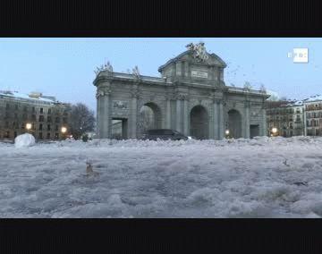 Madrid tuvo una histórica helada con récord de -10