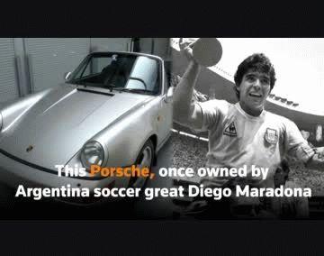 Se trata del vehículo que Maradona usó en su período como jugador del Sevilla, en 1992
