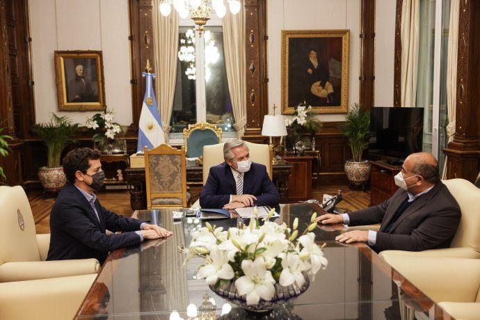 Alberto Fernández recibió a Manzur en Casa Rosada