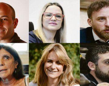 Martiniano Molina, Carolina Píparo, Federico Otermin, María Teresa García, Erica Revilla y Facundo Tignanelli.