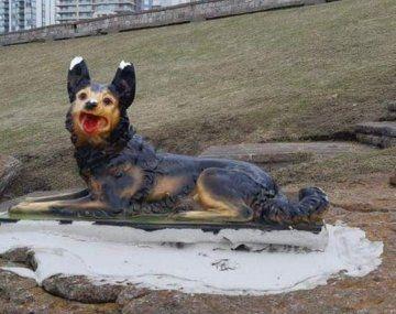 La escultura ya fue removida