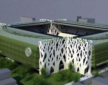 La maqueta original del Estadio Papa Francisco que presentó San Lorenzo en 2013.
