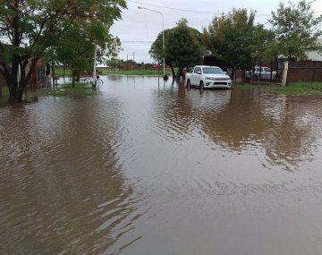Inundación en la localidad chaqueña de Charata. (archivo)