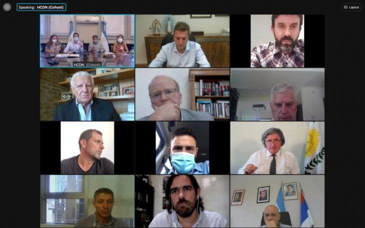 Diputados: De Pedro y Máximo Kirchner se reúnen con jefes de bloque