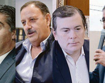 Jorge Capitanich, Ricardo Quintela, Gerardo Zamora y Raúl Jalil.