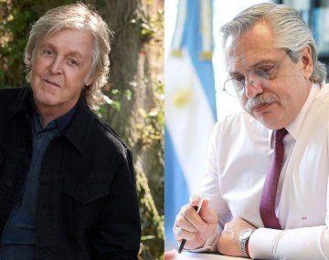 Alberto Fernández recibió una carta del músico Paul McCartney