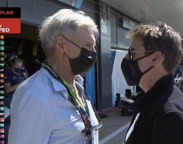 F1: Tom Cruise y Harrison Ford, presentes en el Gran Premio de Inglaterra.