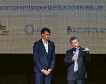 Mauricio Macri y Esteban Bullrich.