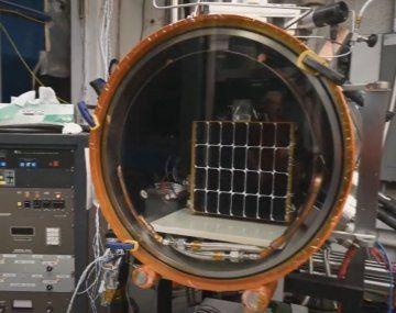 Este es el panel que el Pentágono envió al espacio.