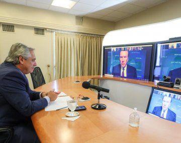 Alberto Fernández en comunicación con David Malpass.