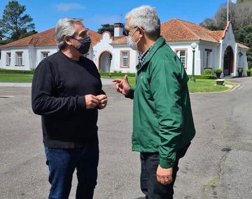 Alberto Fernández y Julián Domínguez
