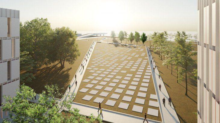 Una de las imágenes del proyecto que pretende el oficialismo en la Costanera