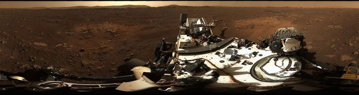 La foto panorámica completa de Marte.