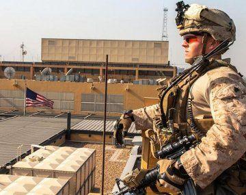 La base de EEUU en Bagdad está en la zona verde.