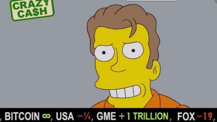 Los Simpson predijeron que el precio de Bitcoin subirá más y más.
