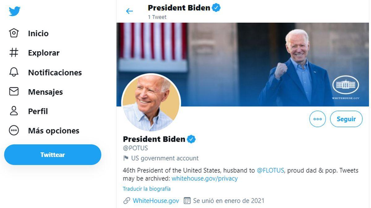 Biden ya es @POTUS en Twitter