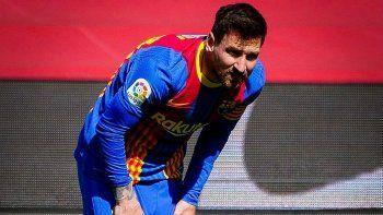 Messi intentó por todo los medios, pero no alcanzó. Barcelona se despide de la lucha por el título.