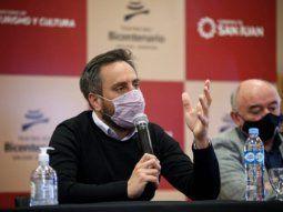 Juan Cabandié realizó anuncios en San Juan por $163 millones.