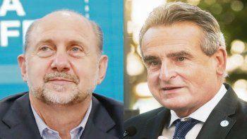 Omar Perotti y Agustín Rossi.