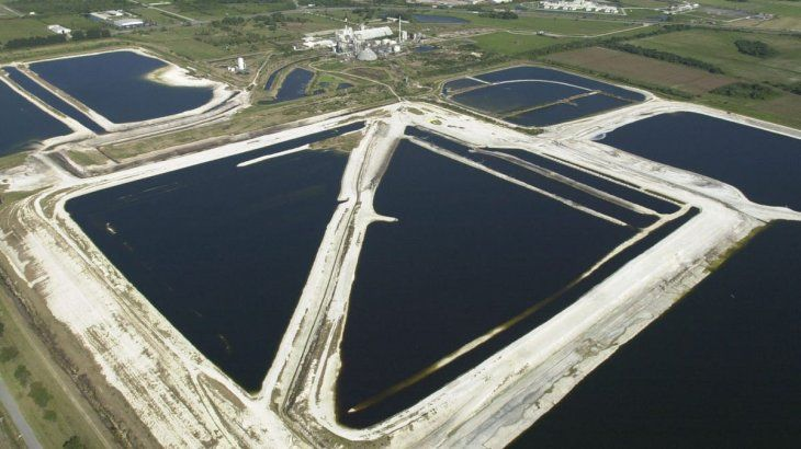 La enorme planta de aguas residuales de Piney Point
