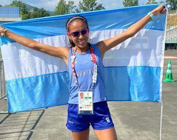 Marcela Gómez terminó la maratón en el 61° lugar.