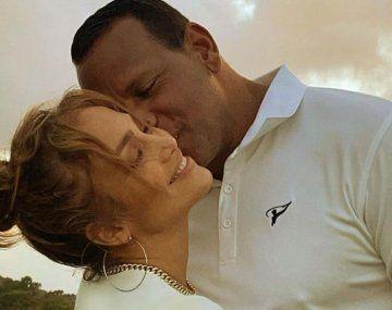 La cantante JenniferLópez y el astro del béisbol AlexanderRodríguez