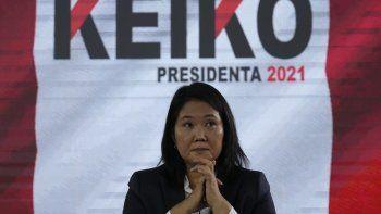 Keiko Fujimori no pierde la esperanza de ganar la presidencia de Perú.