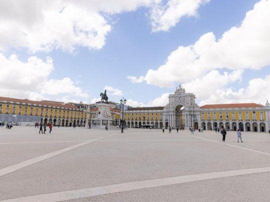 Postales del casco históricos de Lisboa.