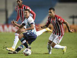 Racing empató con San Pablo en la Copa Libertadores.