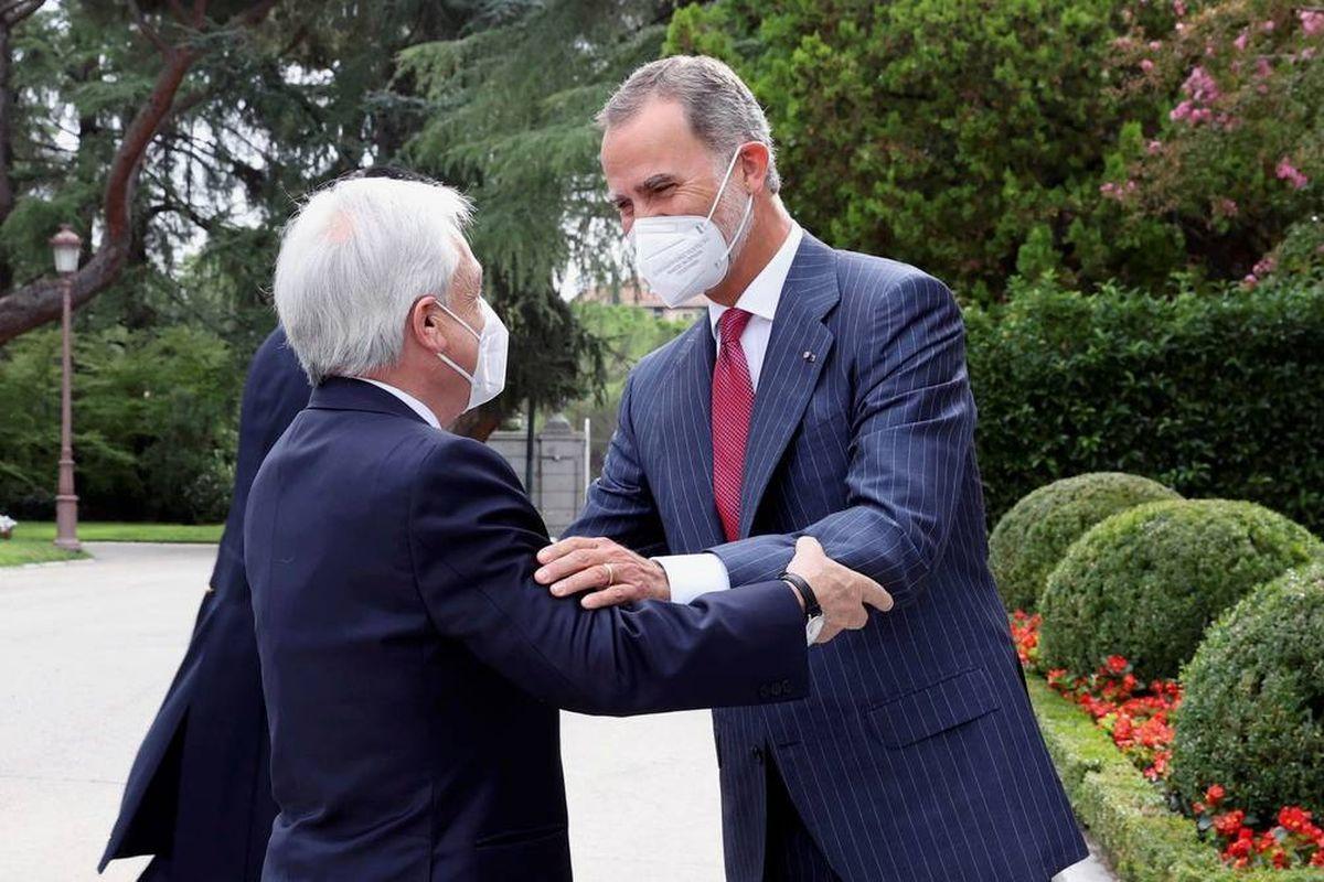 Sebastián Piñera y el Rey Felipe VI.