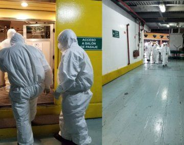 Imágenes del operativo al momento de descubrir que el joven tenía coronavirus