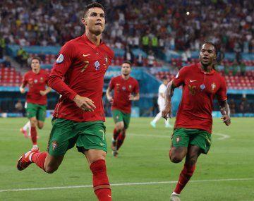 Cristiano Ronaldo acumula récords en la presenta Eurocopa 2020.