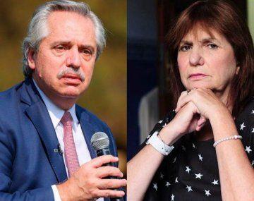 Alberto Fernández y Patricia Bullrich tendrán mediación judicial este viernes.
