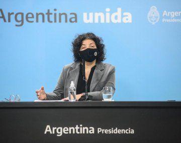 La ministra de Salud, Carla Vizzotti, detalló la situación epidemiológica actual sobre la pandemia de Covid-19.