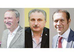 Juan Schiaretti, Hugo Passalacqua y Omar Gutiérrez