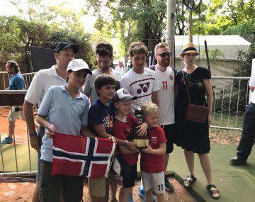 Casper Ruud acompañado de su hinchada, que lo siguió en todos los partidos de este Argentina Open.