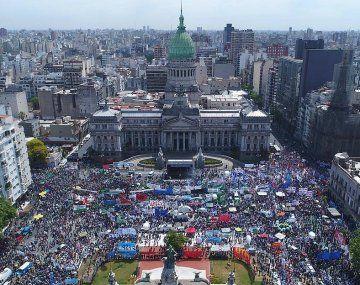 Congreso de la Nación, escenario de la apertura de las sesiones ordinarias de este domingo 1 de marzo.