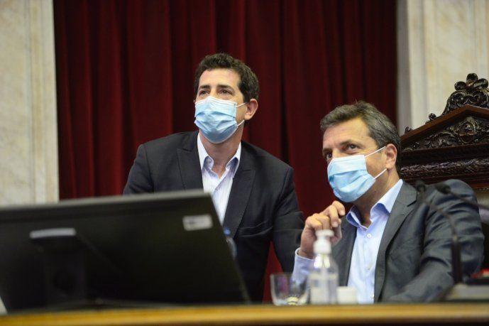 Sergio Massa recibió en el recinto la visita del ministro del Interior