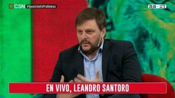Leandro Santaro en C5N.