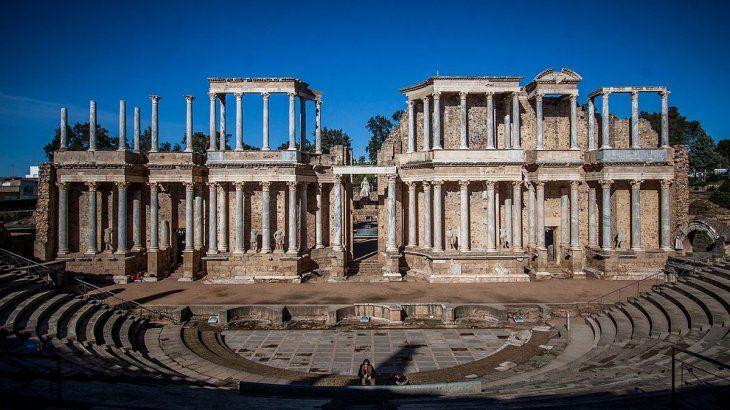 El legado romano resplandece en Mérida.