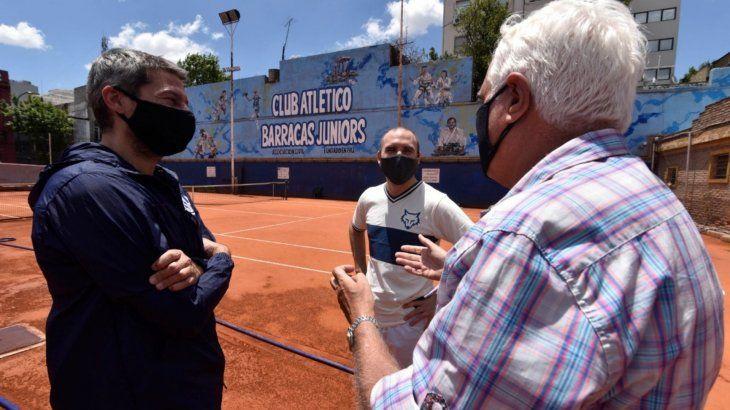 Guzmán y Lammens dialogaron sobre le programa para infraestructura de clubes de barrio