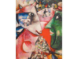 «Moi et le village», una de las tantas obras que dedicó Marc Chagall a su ciudad natal de Vítebsk.