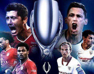 Bayern Munich y Sevilla se disputan la Supercopa de Europa esta tarde en Budapest