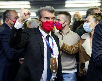 Joan Laporta es el nuevo presidente de Barcelona, que se ilusiona con retener a Lionel Messi.