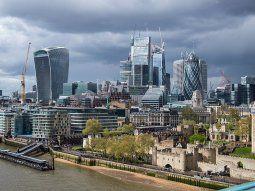 El distrito financiero de Londres hoy está desierto a causa del teletrabajo.