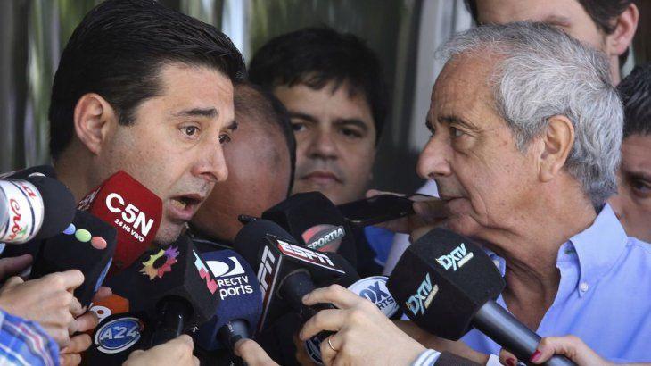 Angelici y DOnifrio impulsaban a Liga Sudamericana de Clubes.