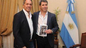 Daniel Scioli y Sergio Uñac.