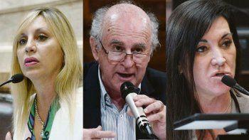 contrapunto. María de los Ángeles Sacnún y Oscar Parrilli quieren avanzar rápido con las leyes. La opositora Laura Rodríguez Machado pide más tiempo para analizar los proyectos.